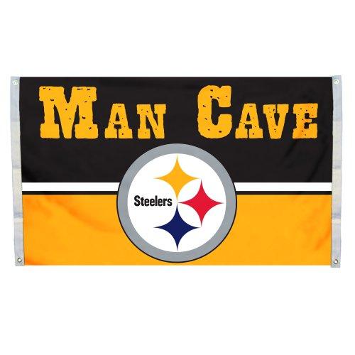 NFL men,unisex-adult,women Man Cave 3 x 5 Flag w/ 4 Grommets from Fremont Die Inc.