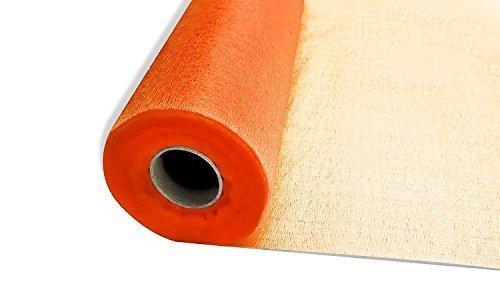 25m x 29cm Neige rouleaux en organza transparent Orange avec tissu /à paillettes-Parfait Comme D/écorations de No/ël f/ête ou par Coupe Shop mariage