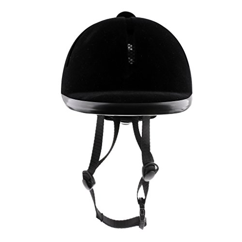 (Flameer Horse Riding Helmet Velvet Equestrian Rider Safety Head Hat 48-54cm)