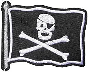 Parche de bandera de pirata de Jack Sparrow, para bordado o costura, motivo de Piratas del Caribe: Amazon.es: Hogar