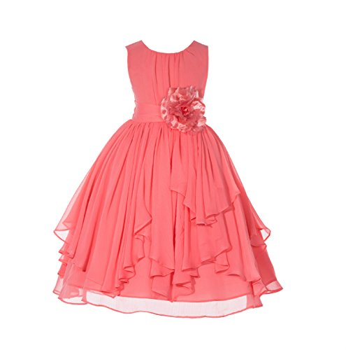 ekidsbridal Yoryu Chiffon Flower Girl Dresses Birthday Girl