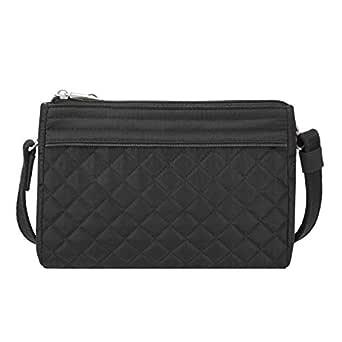 Travelon Anti-theft Boho Clutch Crossbody, Black (black) - 43222-500