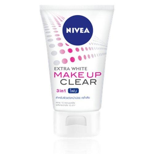 Nivea Cleansing Foam Extra White Make Up Clear Foam Net wt. 3.53 Oz or100 g. NIVEA THAILAND