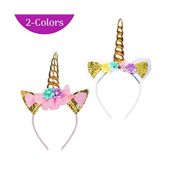 USA Toyz Unicorn Headband Party Favors - 6pk Unicorn Party Supplies, Unicorn Horn Headbands for Girls and Boys 6