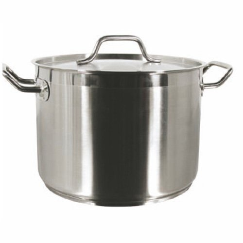 60 Qt Stock Pot W/Lid Stainless Steel Commercial Grade -NSF CertifiedProfessional Quality by Thunder Group