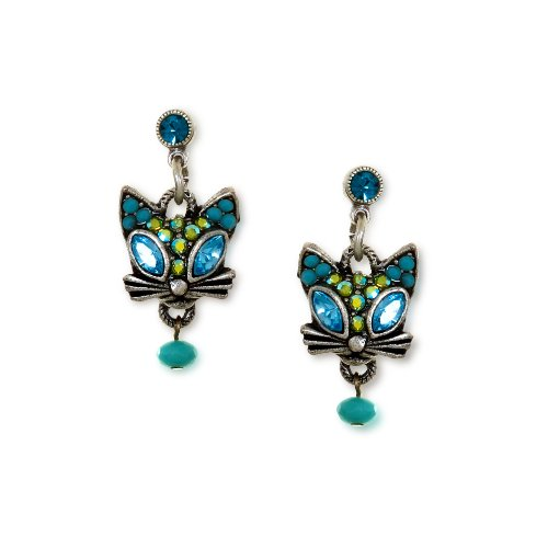 La Contessa Glamour Kitty Cat Earrings Designed by Mary DeMarco and Curated by The Artazia Collection - E8851