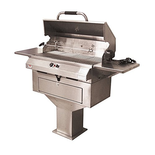 Electric Chef Single Control Pedestal Base Grill ()