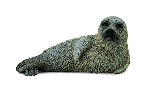 - CollectA Sea Life Spotted Seal Pup Miniature Toy Figure - Authentic Hand Painted Model