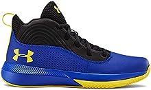 Under Armour Unisex-Youth Pre School Lockdown 4 Basketball Shoe, Royal (400)/Black, 5