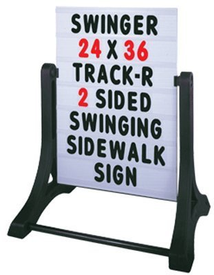SmartSign Standard Swinger Changing Message Sidewalk Sign and Letter Kit