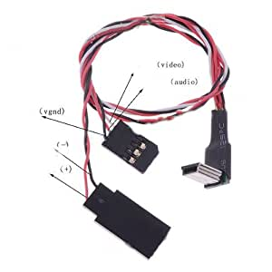 XINTE Tiempo real FPV transmisor AV Conexión Mini USB Cable de AV Cable Mini Para GOPRO3 Hero3 cámara