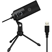 USB Microphone,Fifine Metal Condenser Recording Microphone For Laptop MAC Or Windows Cardioid Studio Recording Vocals, Voice Overs,Streaming Broadcast And YouTube Videos.(669B)
