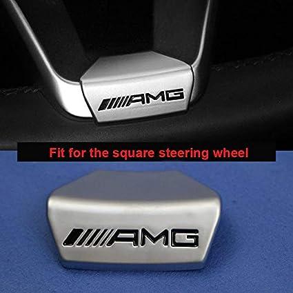 Steering Wheel Emblem Decal Sticker Badge Trim Fit For Mercedes Benz AMG Logo