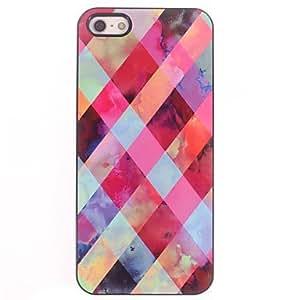 SOL Colorful Lattice Design Aluminium Hard Case for iPhone 5/5S
