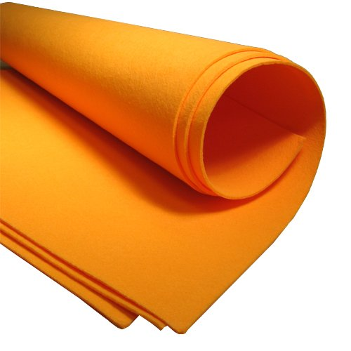 Chamois Value Pack (100 pieces): 19'' x 27'', Orange by The Felt Store