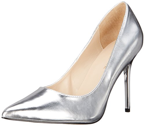Tacco Classique Slv con Silver Pu Argento Donna Scarpe Met Pleaser 20 4IpOwqdxBB