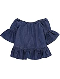 "Bebe Big Girls' ""Ruffled"" Top"