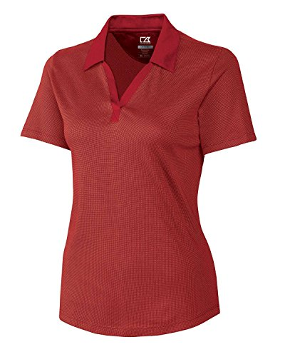 Cutter & Buck Women's DryTec Birdseye Golf Polo Red (Birdseye Sport Coat)