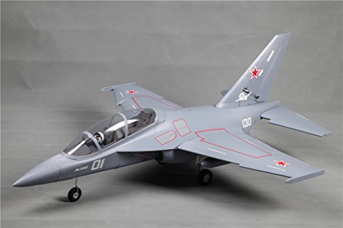 Foam Edf Rc Jet (FMS 70mm Ducted Fan EDF Yak-130 Grey Super Scale RC Airplane Jet 6S PNP (No Radio, battery, charger))