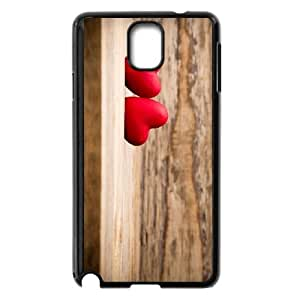 Samsung Galaxy Note 3 Cell Phone Case Black Heart on Wood SJ9473671