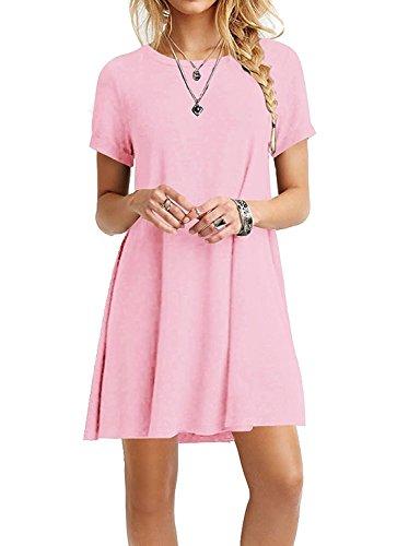 Women's Casual T-shirt Dress Short Sleeve Plus Size Loose Dresses Tank Sundresses Zero Jorla (Plus Size Stores)