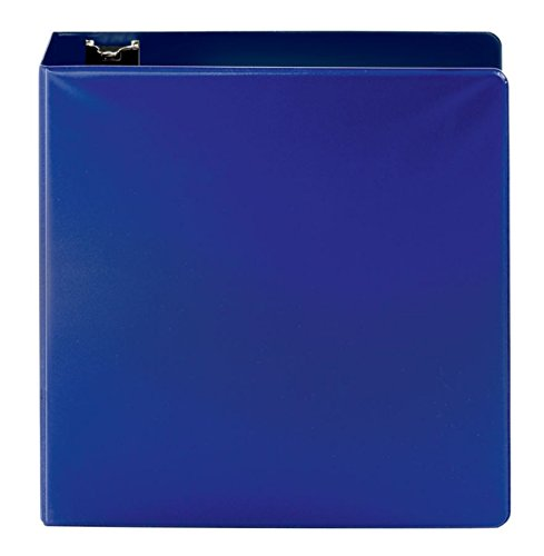OfficeMax Durable Reference Binders with Round Ring 3'', Blue by OfficeMax (Image #2)