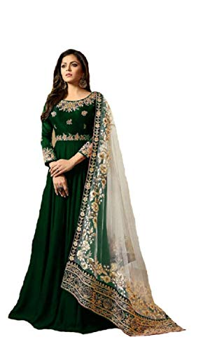 New Desiner Indian/Pakistani Ethnic wear Georgette Anarkali Gown LT (Green, XX-LARGE-46)