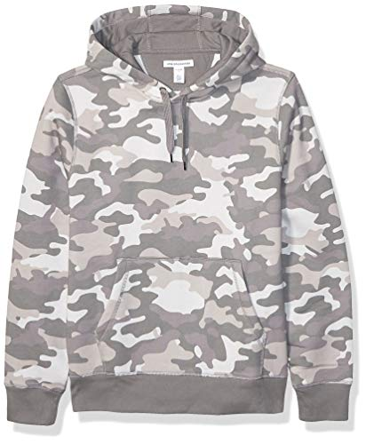 Amazon Essentials Men's Hooded Long-Sleeve Fleece Sweatshirt, Grey Camo XX-Large