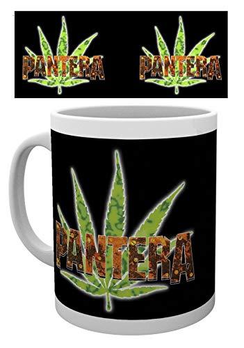 1art1 Set: Pantera, Leaf Photo Coffee Mug (4x3 inches) and 1x Surprise Sticker