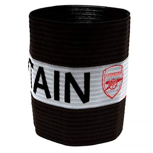 Arsenal FC Official Captains Arm Band (One Size) (Red/White)