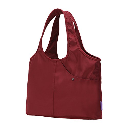 hombro totalizador Bolso del Majome bolso de del de hombro del grande viaje Rojo de bolso del del nylon mano del totalizador del las mujeres THq7FdPWHc