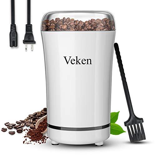 Veken Coffee Grinder Electric Spice & Nut Grinder with Stainless Steel Blade