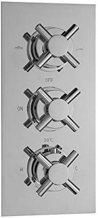 ENKI Mitigeur thermostatique encastrable de douche 3 poign/ées 3 voies ronde