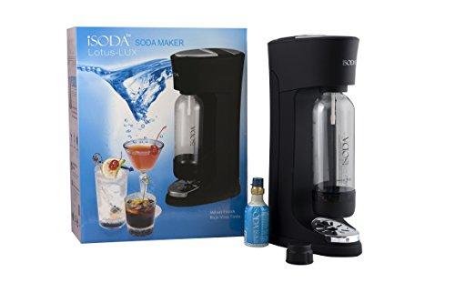 iSoda 43-02 Lotus Lux Carbonated Soda Maker, Black Velvet