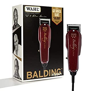 Wahl Professional 5-Star Balding Clipper #8110 - Great for Barbers and Stylists - Cuts Surgically Close for Full Head Balding - Twice the Speed of Pivot Motor Clippers - Accessories Included (B000VVT94G) | Amazon price tracker / tracking, Amazon price history charts, Amazon price watches, Amazon price drop alerts