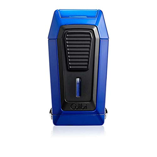 Blue Cutter - Colibri Quantum Triple Jet Lighter With V-Cutter - Blue/Black