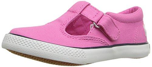 Polo Ralph Lauren Kids Tabby LT PK CVS WHT PP T-Strap Sneaker (Toddler/Little Kid), Light Pink, 11 M US Little Kid