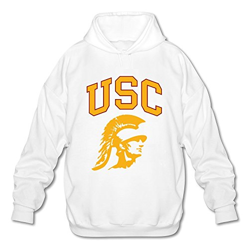 New TBTJ Men's University Of Southern California Logo USC Hooded SweatshirtWhite XX-Large ()