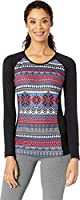 Hot Chillys Women's MTF Sub Print Scoop Base Layer Top (Black), Medium, Arizona Sunset