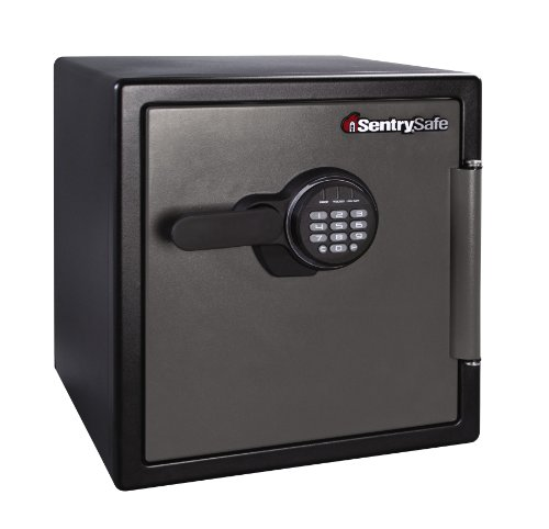 Sentry Waterproof Cd - SentrySafe Fire and Water Safe, Extra Large Digital Safe, 1.23 Cubic Feet, SFW123ES