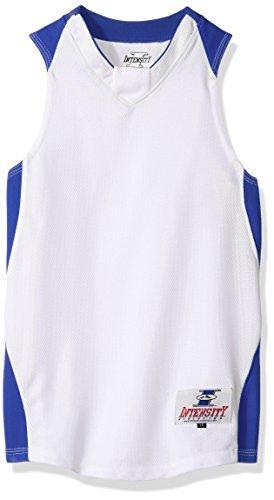 Intensity Youth Diamond Basketball Jersey, White/Royal, Large ()