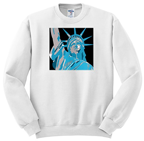 Andy Warhol Collection (Tory Anne Collections Art - ANDY WARHOL INSPIRED STATUE OF LIBERTY - Sweatshirts - Adult SweatShirt XL (ss_235302_4))