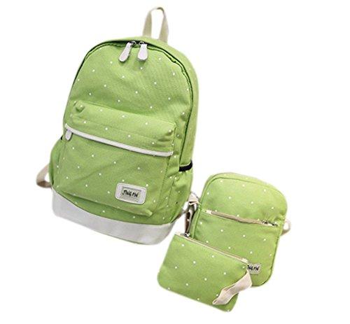 Remeehi - Bolso mochila  para mujer, negro (Gris) - JXQ0691-7 Verde