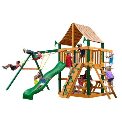 Blue Ridge Chateau Swing Set Canopy: Western Ginger Sunbrella