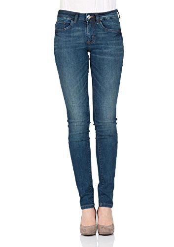 TOM TAILOR Skinny Alexa, Jeans Femme Dark Stone Wash Denim