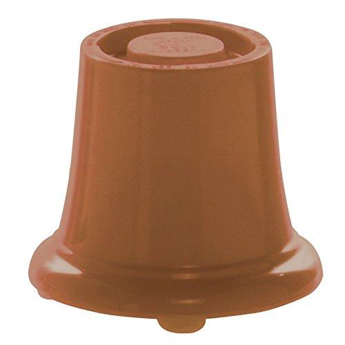 HUBERT Pedestal Small Terra Cotta Melamine - 3 1/2