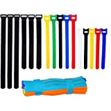 Ceeyali Colored Reusable Fastening Cable Ties Cable Straps for Wires Organization Wire Management Pack of 70