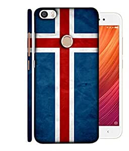 ColorKing Football Iceland 01 Blue shell case cover for Xiaomi Redmi Y1 / Note 5A / Note 5A Prime
