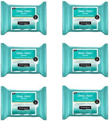 Facial Cleansing Wipes: Neutrogena Deep Clean Micellar