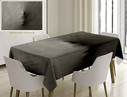 - Unique Custom Cotton And Linen Blend Tablecloth Horror House Decor Screaming Face Figure Pressing Through Veil Devil Supernatural Trippy Theme GrayTablecovers For Rectangle Tables, 86 x 55 Inches